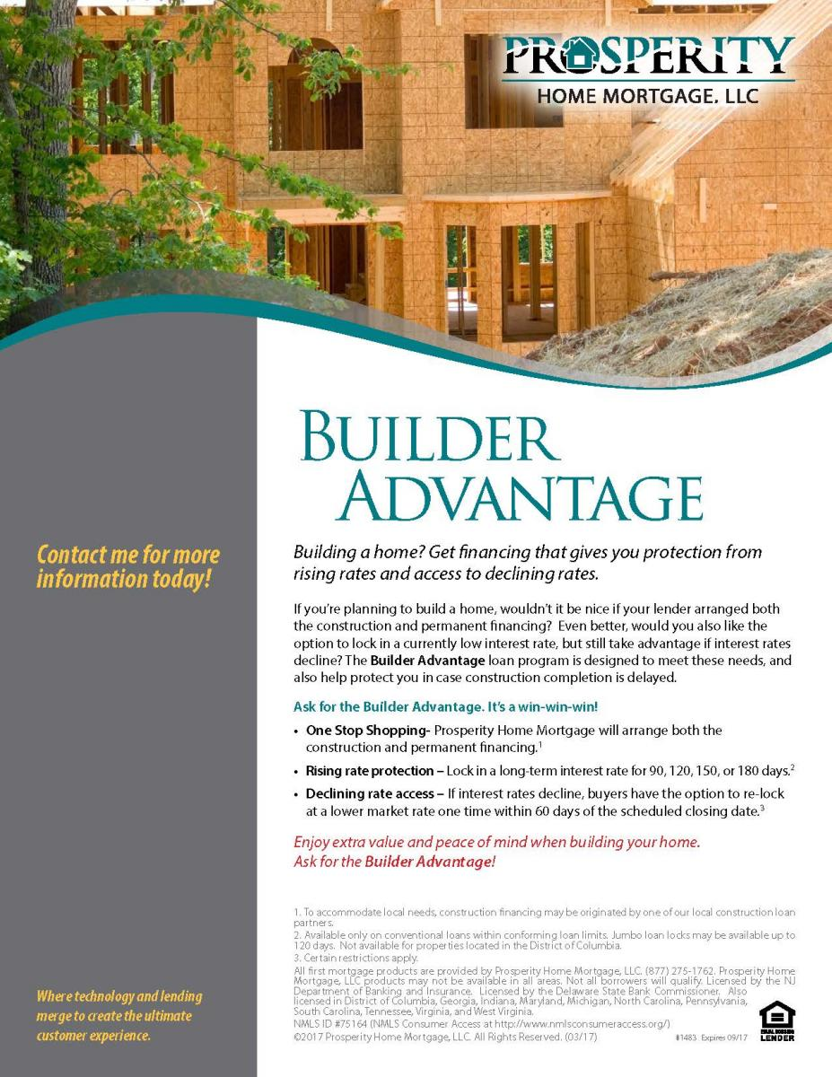 builder advantage prosperity home mortgage llc